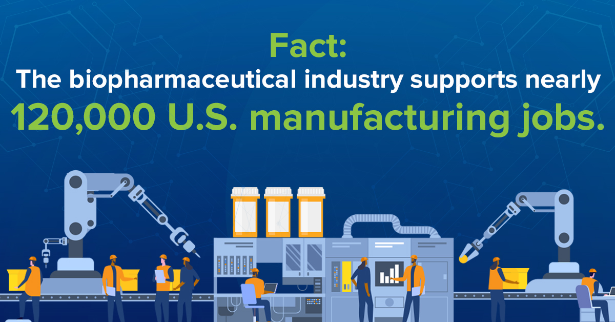Biopharma Supports 120,000 Manufacturing Jobs